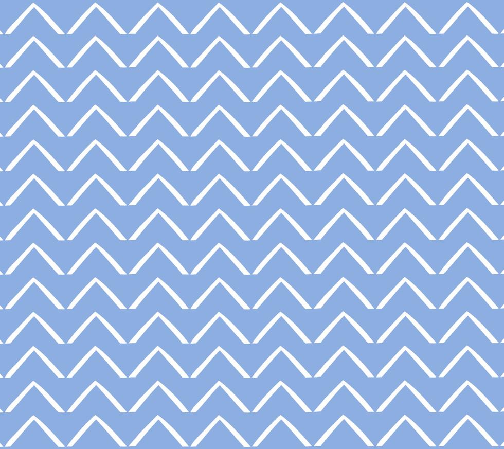 ZigZag Arrows . Perfect Blue