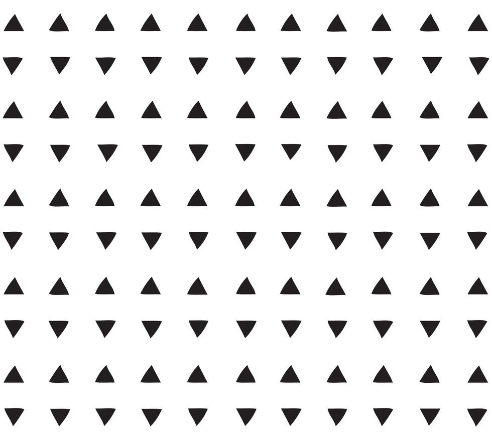 Tiny Triangles . White Black Onyx