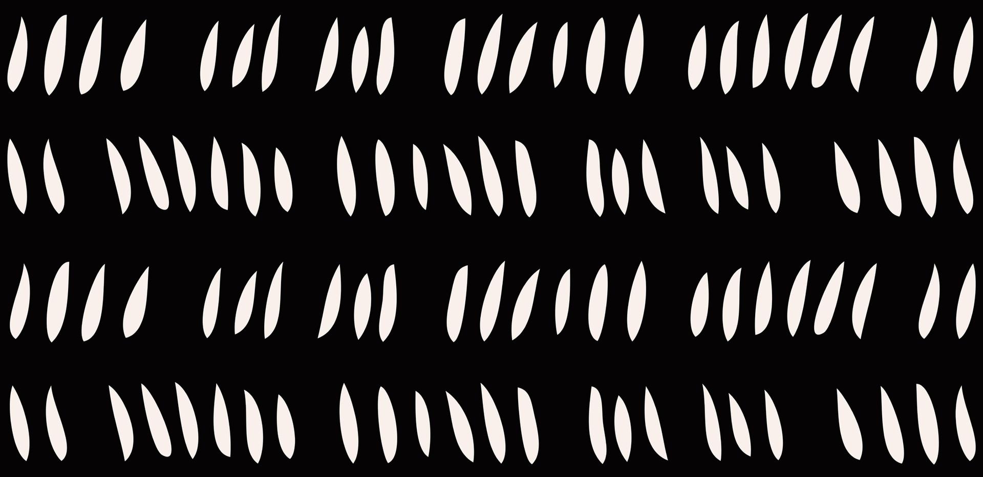 Hash Row Cutouts . Ivory Black