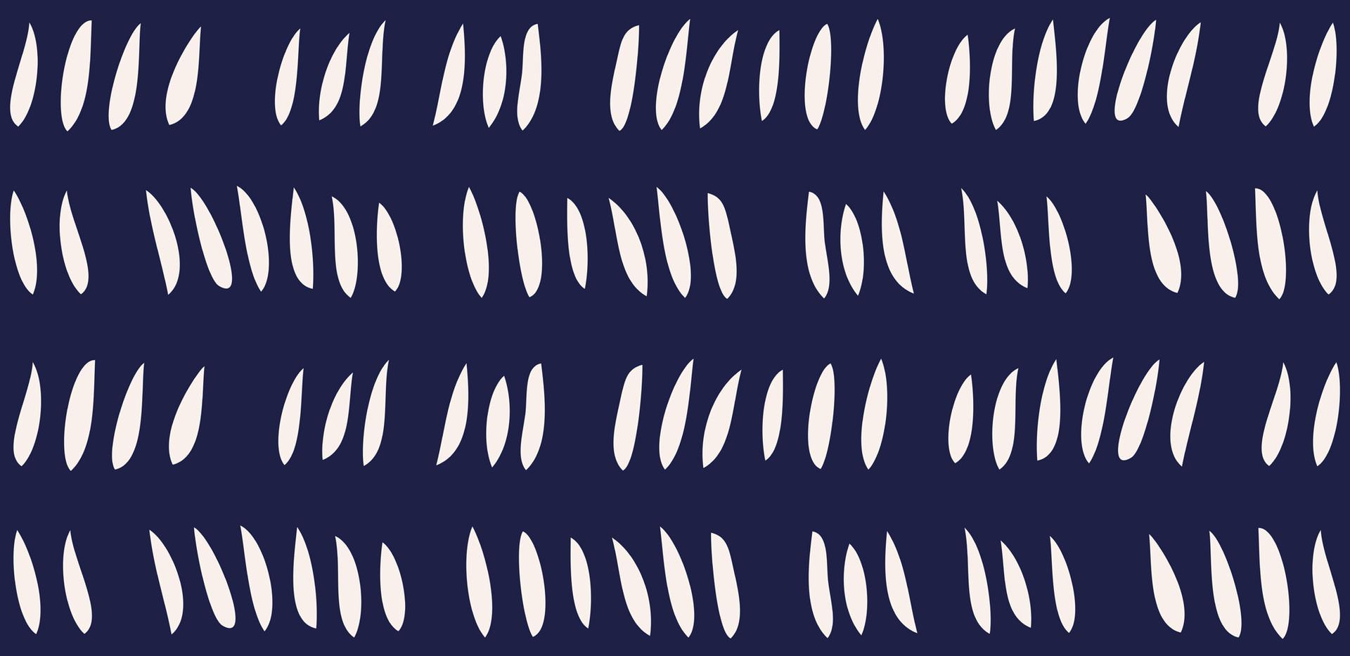 Hash Row Cutouts . Ivory Midnight