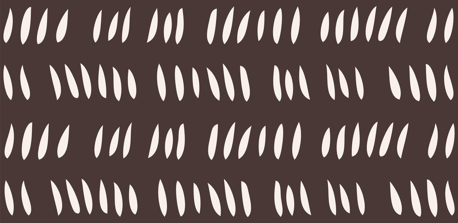 Hash Row Cutouts . Ivory Chocolate