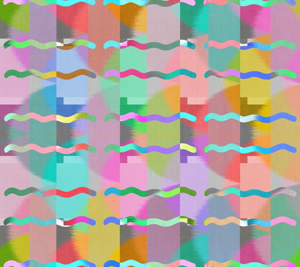 Color Block Linen . Wavy Lines