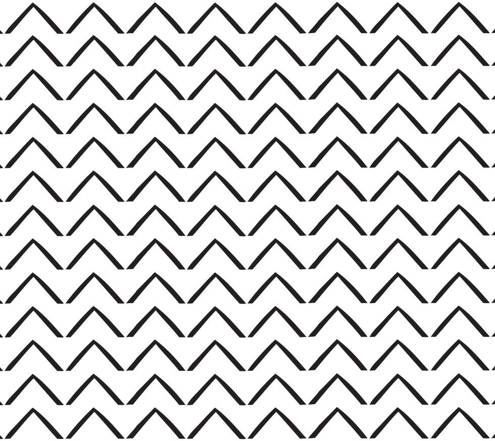 ZigZag Arrows . White Black Onyx