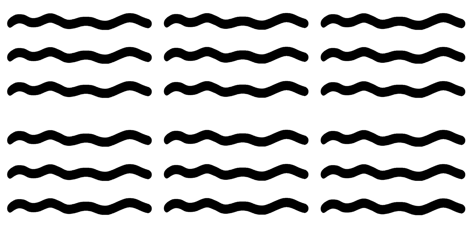 Gentle Waves . White Black