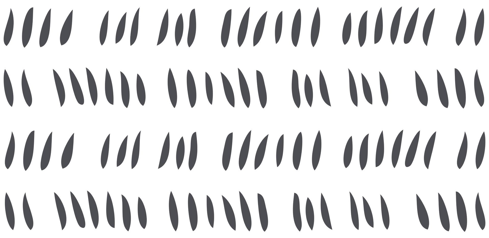 Hash Row Cutouts . Slate White