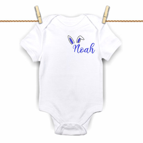 Custom Blue Easter Bunny Bodysuit
