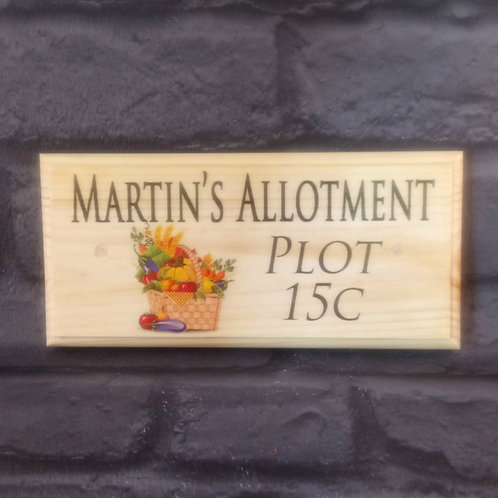 Personalised Allotment - Plot Number Sign