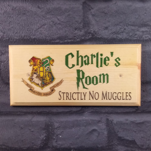 Personalised Harry Potter Room Sign