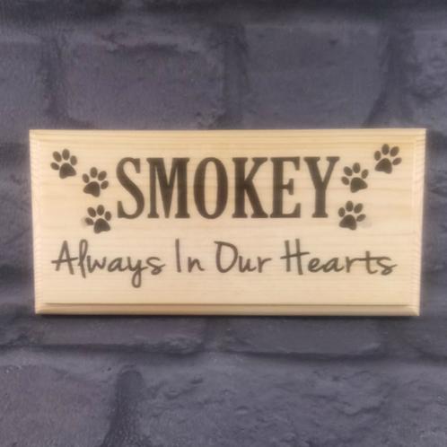 Custom Memorial Pet Sign - Always In Our Hearts