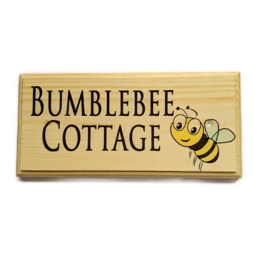 Personalised Bee Sign - Bumblebee Cottage Plaque - Bumblebee House Name