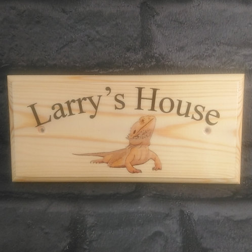 Personalised Bearded Dragon House Sign