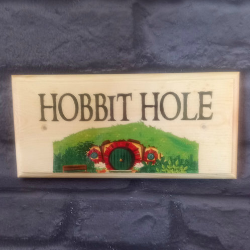 Hobbit Hole Sign - Hobbit House Name Plaque