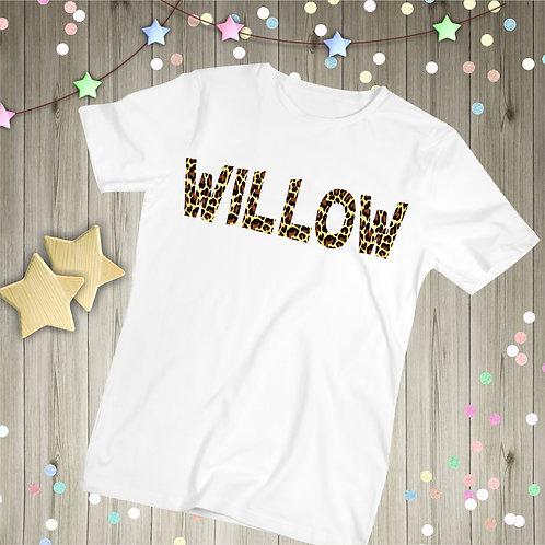 Personalised Leopard Print Children's T-shirt