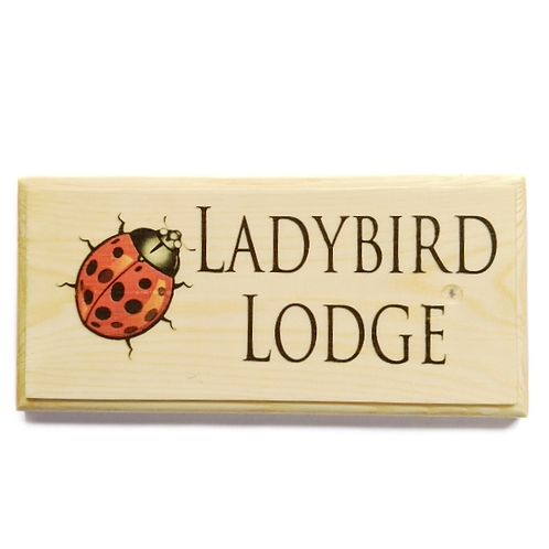 Personalised Ladybird House Sign