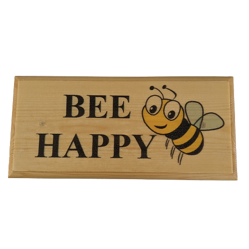 Bee Happy Sign - Bumblebee Garden Plaque