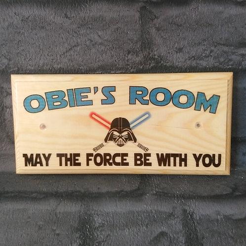Personalised Star Wars Sign - Star Wars Bedroom Door Plaque