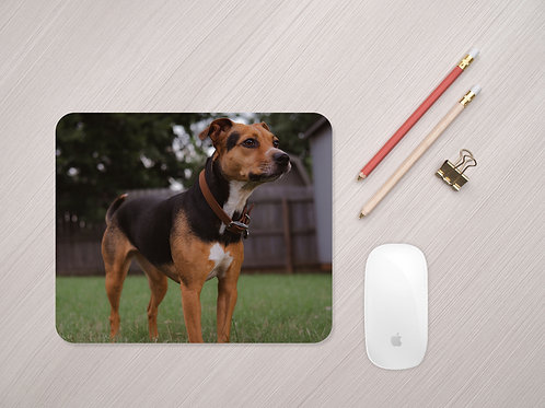 Personalised Dog Photo Mouse Mat - Custom Pet Mouse Pad