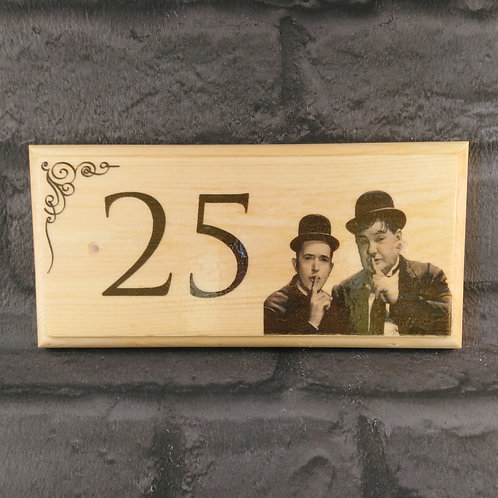 Personalised Laurel and Hardy House Sign