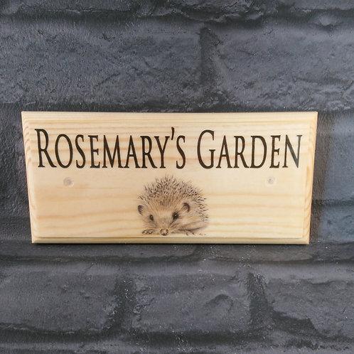 Personalised Hedgehog Garden Sign
