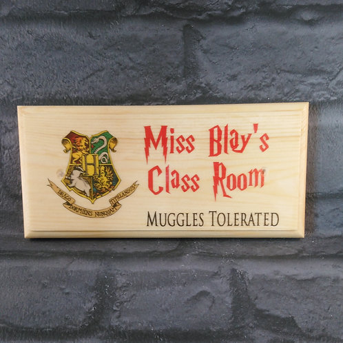 Personalised Harry Potter Classroom Door Sign