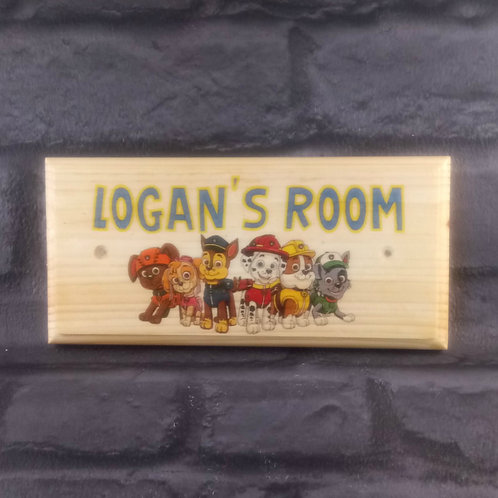 Personalised Paw Patrol Room Sign