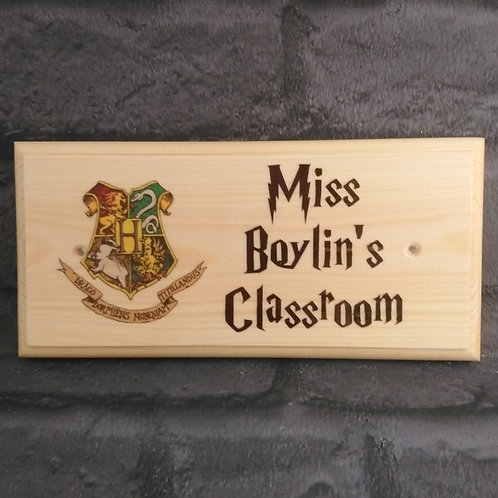 Personalised Harry Potter Classroom Door Sign - Harry Potter Teacher Gifts