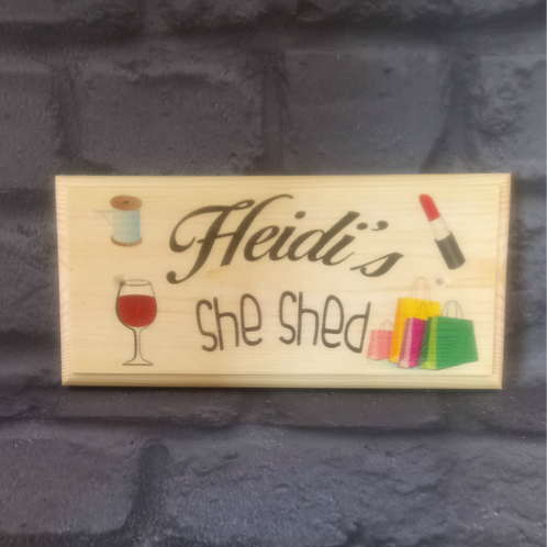 Personalised She Shed Sign