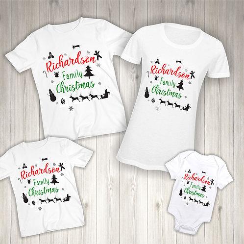 Family Christmas Matching T-Shirts
