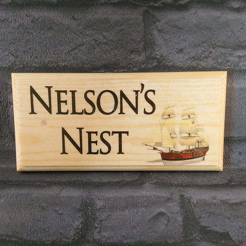 Custom Ship House Name Sign