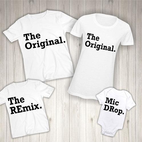 Matching Family T-Shirts (The Original, The Remix, Mic Drop)
