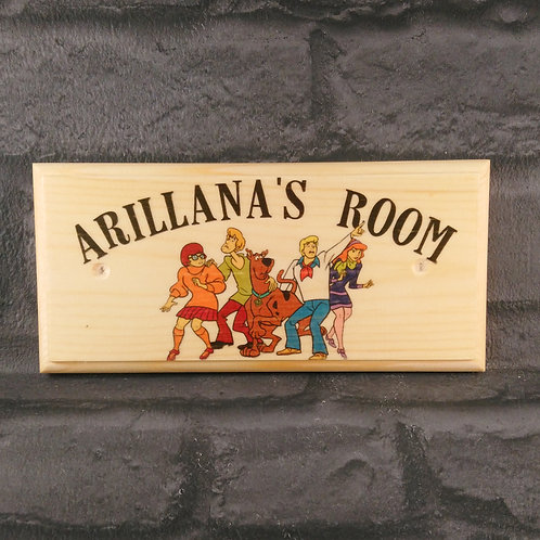 Personalised Scooby Doo Bedroom Sign
