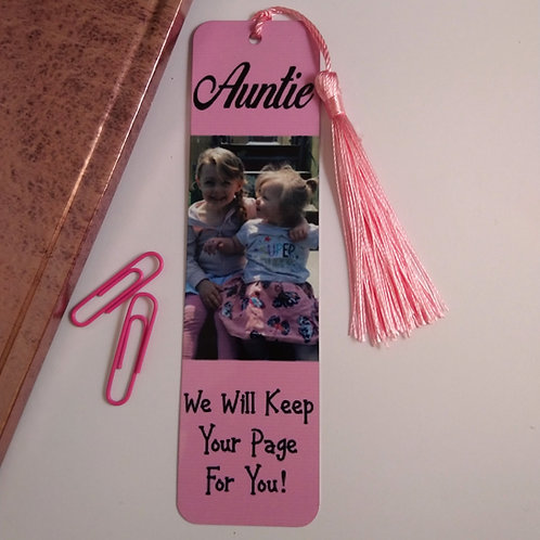 Auntie Bookmark With Custom Photo