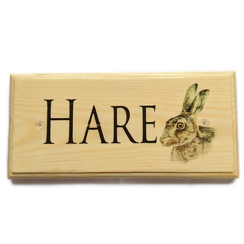Personalised Hare Sign