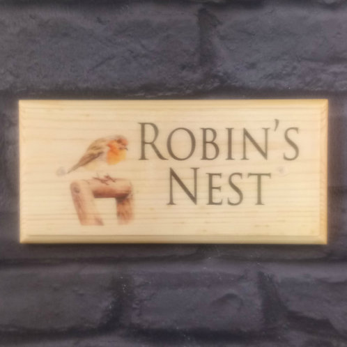 Robin's Nest Sign, House Name Plaque