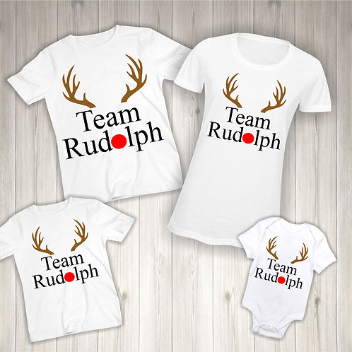 Team Rudolph Matching T-shirts