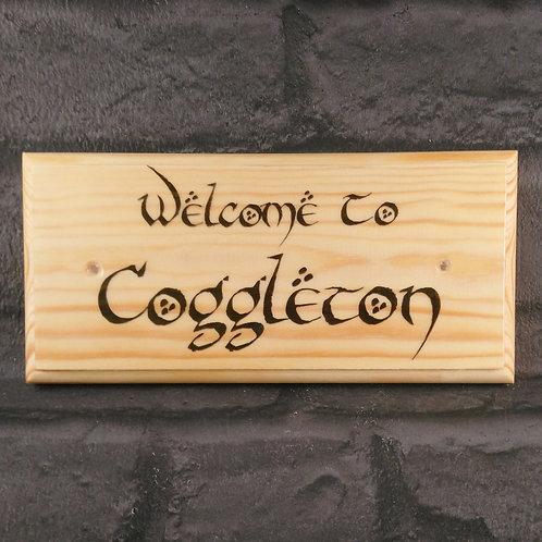 Custom Hobbit House Sign