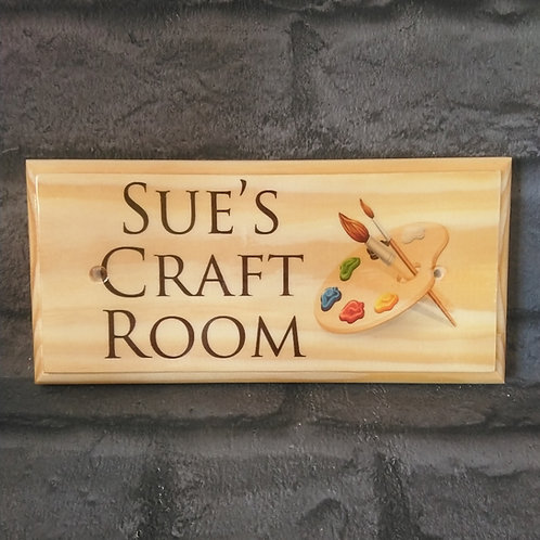Personalised Craft Room Sign - Custom Art Room Plaque