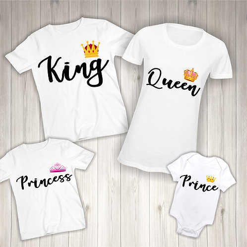 King, Queen, Prince, Princess - Matching Family T-Shirts