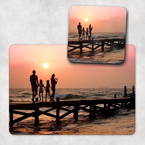 Custom Photo Placemat & Coaster Set