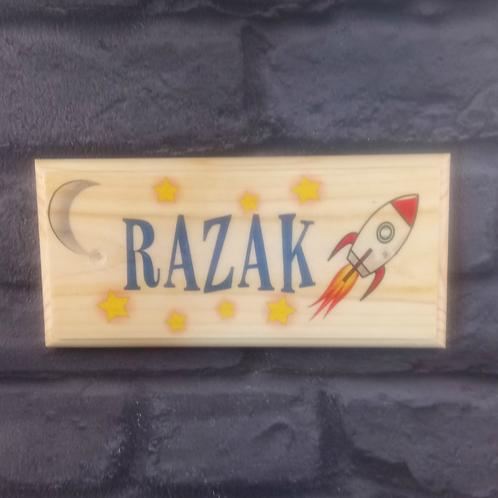 Personalised Rocket Bedroom Door Sign