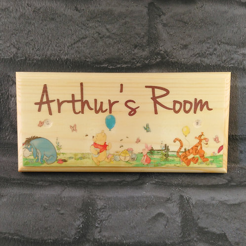 Personalised Winnie The Pooh Room Sign