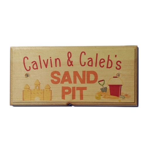 Sand Pit Personalised Sign