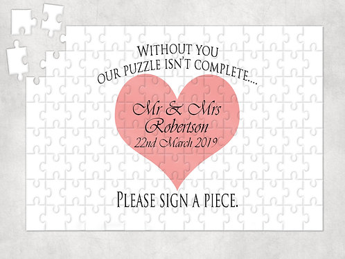 Wedding Guestbook Jigsaw Puzzle