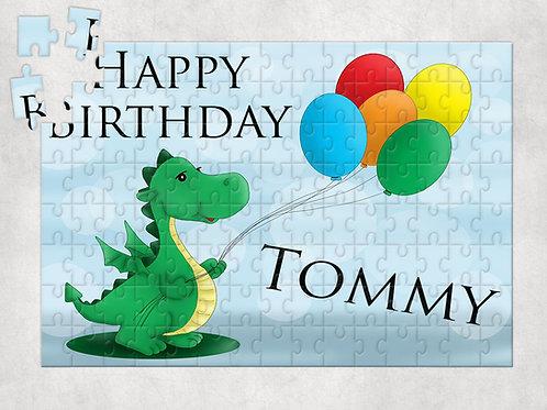 Personalised Dinosaur Birthday Jigsaw Puzzle