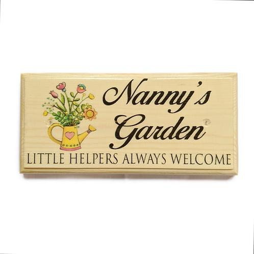 Nannys Garden Sign, Little Helpers Always Welcome