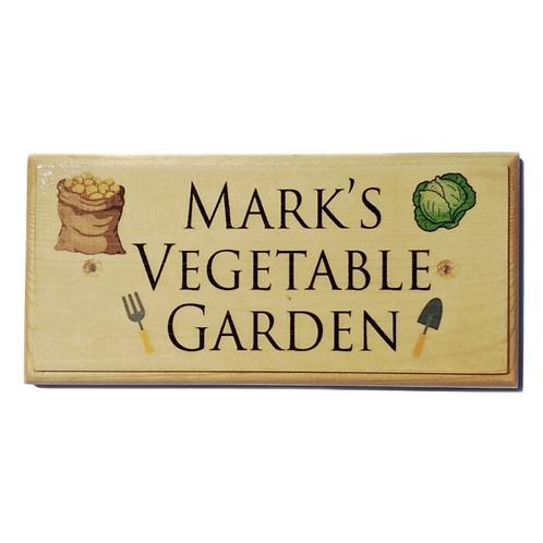 Personalised Vegetable Garden Sign