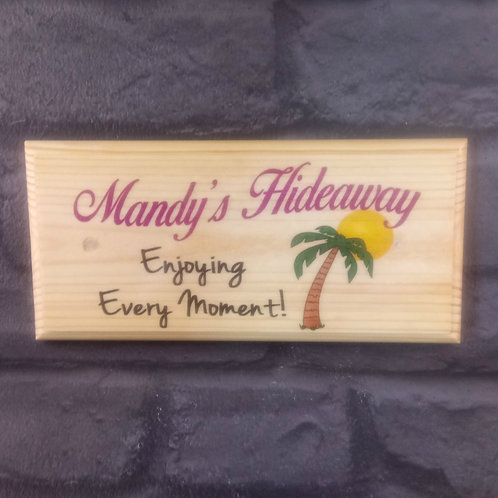 Personalised Hideaway Sign