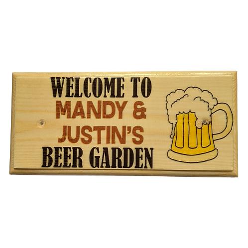 Personalised Beer Garden Sign
