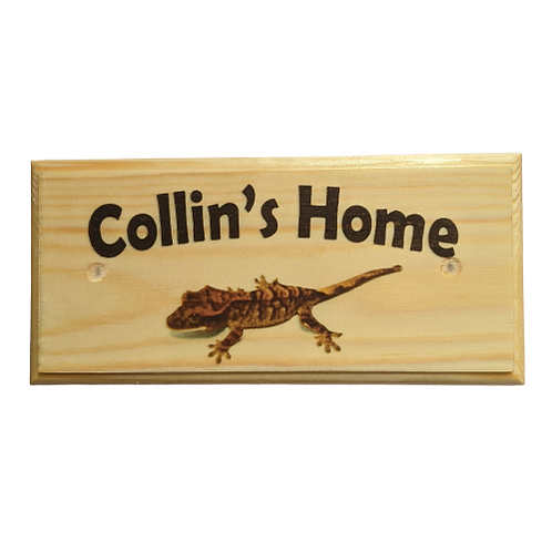 Personalised Gecko House Sign