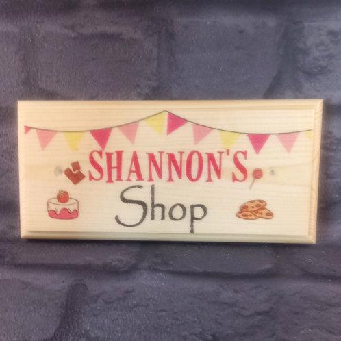 Custom Sweet Shop Sign - Childrens Playhouse Plaque